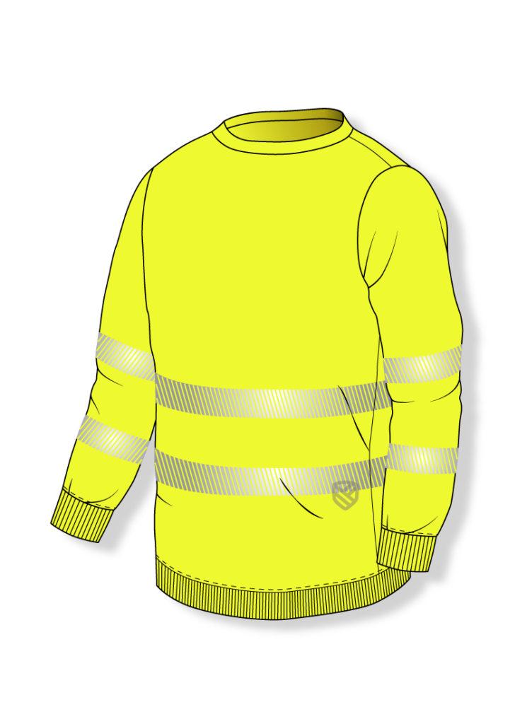 Hochsichtbares S-Sweatshirt