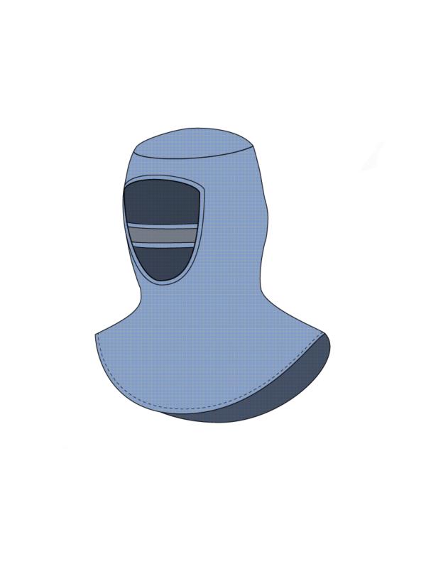 Haube mit Abdeckung für Reinraumbereiche